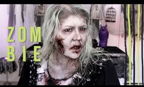ZOMBIE MAKEUP TUTORIAL HAPPY HALLOWEEN!!!
