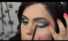 Gray Smokey Eye Tutorial & BLOOPERS  /Como Hacer Un ojo Ahumado Gris & BLOOPERS