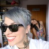 Slate gray hair