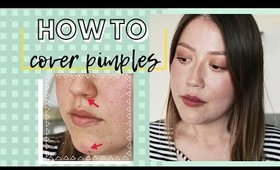 How To Cover Angry Pimples And Blemishes
