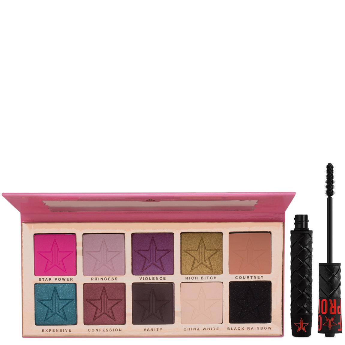 Jeffree Star Cosmetics Beauty Killer Eyeshadow Palette + F*ck Proof Mascara alternative view 1 - product swatch.