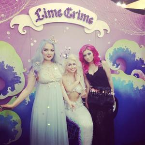 Lime Crime owner Doe, Mermaid Model, & Myself!