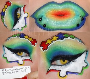 I did a look for a contest that I was in, autism awareness.
