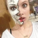 Cracked doll face