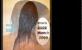 Evolution capillaire de Ms. X - HAIR PROGRESS