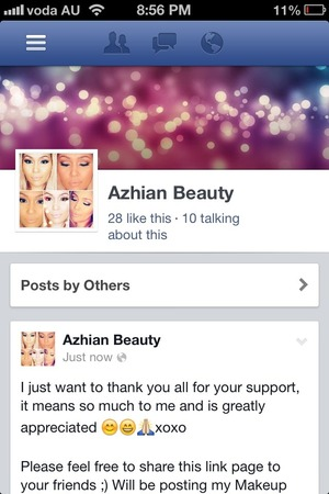 Hey beautiful people, show some love and support by hitting 'LIKE'. Help me get to 200 xx https://www.facebook.com/aZHianBeauty