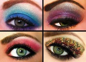 Ojos fantasía-carnaval