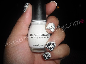 Sinful Colors: Snow Me White, Avon: Mosaic Effects, and Sally Henson Salon Effects Nail Strips: Love Letter
