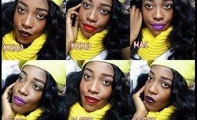 Mes 6 rouges à lèvres favoris pour cet hiver