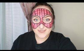 Last Minute Halloween Makeup Look - Spider Man Mask