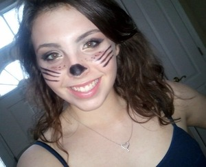 cat makeup woo!