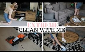 EXTREME LIVING ROOM CLEAN WITH ME UK | CLEANING MOTIVATION
