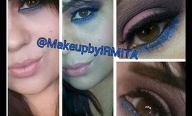 Corals Makeup Tutorial & Blue Eye-shadow