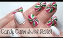 ♥ HOW TO: CANDY CANE SWIRL NAILS! A Christmas Nail Art Tutorial! ♥