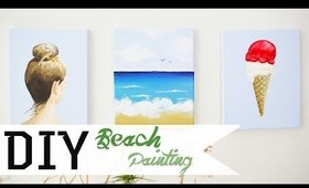 How To Paint A Beach Scene DIY | ANNEORSHINE