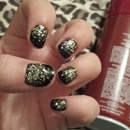 Black with gold glitter gradient