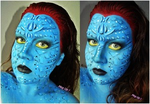 mystique from x-men and jack sully from avatars love child.