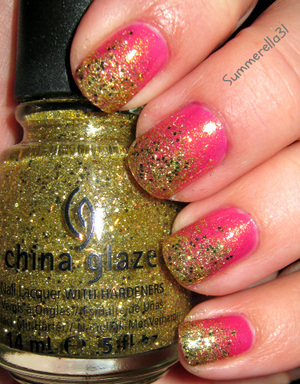 China Glaze Strawberry Fields and Blonde Bombshell