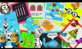 10 Easy DIY Greeting Card Ideas (DIY Cards for Christmas, Birthday or Valentine's Day)