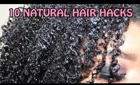 10 Natural Hair Hacks 💁 || Zaji-Kali