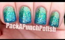 Full Nail Glitter Gradient Nail Art Tutorial