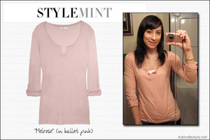 """Stylemint """"Melrose"""" tee in ballet pink!"""