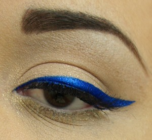I love NYX Cosmetics Electric Blue liquid liner!
