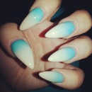 Blue And Nude Ombre