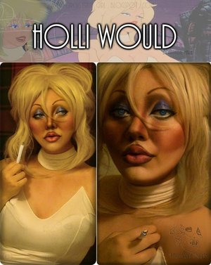 I decided to attempt a transformation of Cool World's Holli Would. (Since I already did Jessica Rabbit! Why not the other bombshell, right?)  The movie (along with her story) is here, if you want to know more about her: http://en.wikipedia.org/wiki/Cool_World