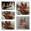heart and leopard nail art tutorial