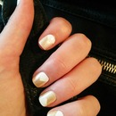 White with OPI 'Up front and personal' glitter