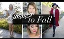Summer To Fall Makeup & Style Transition | ANNEORSHINE