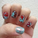 China Glaze Aquadelic, Avon Real Red and OPI Gettin Mrs Piggy With It