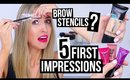 TESTING NEW DRUGSTORE MAKEUP?!    5 First Impressions