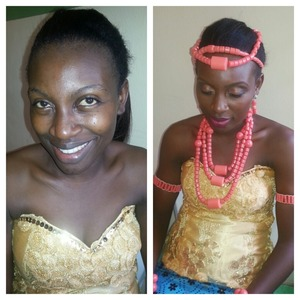 Before and after pix on a bridal makeup