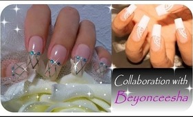 EASY BRIDAL NAIL ART- COLLABORATION WITH Beyonceesha