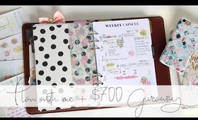 NEW PLANNER - Plan With Me + $700 GIVEAWAY!