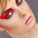 red glossy eye