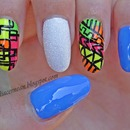 Colorful Tribal Nails