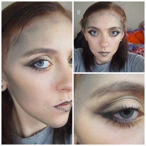 The makeup for today was inspired by the first Hunger Games!