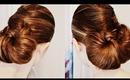 Sleek Criss-Cross Bun Hair Style Turorial