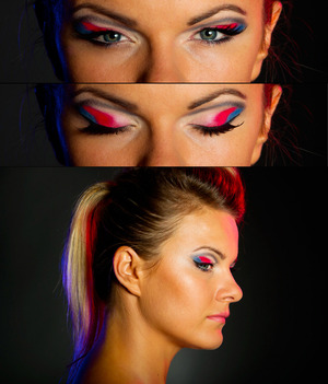 make up made without blending the shodows together