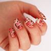 Vintage Gradient Floral Nails