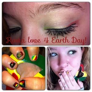 Rasta theme for earth day! All inspired looks!