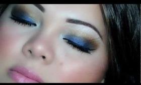 Beautiful Seduction Makeup Look (Blue/Brown/Gold) ♥
