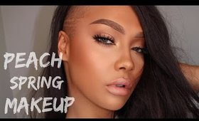 SPRING PEACH MAKEUP TUTORIAL FOUNDATION ROUTINE | SONJDRADELUXE