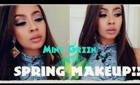 Cool Mint Green Spring Makeup Tutorial - Elegantrissa