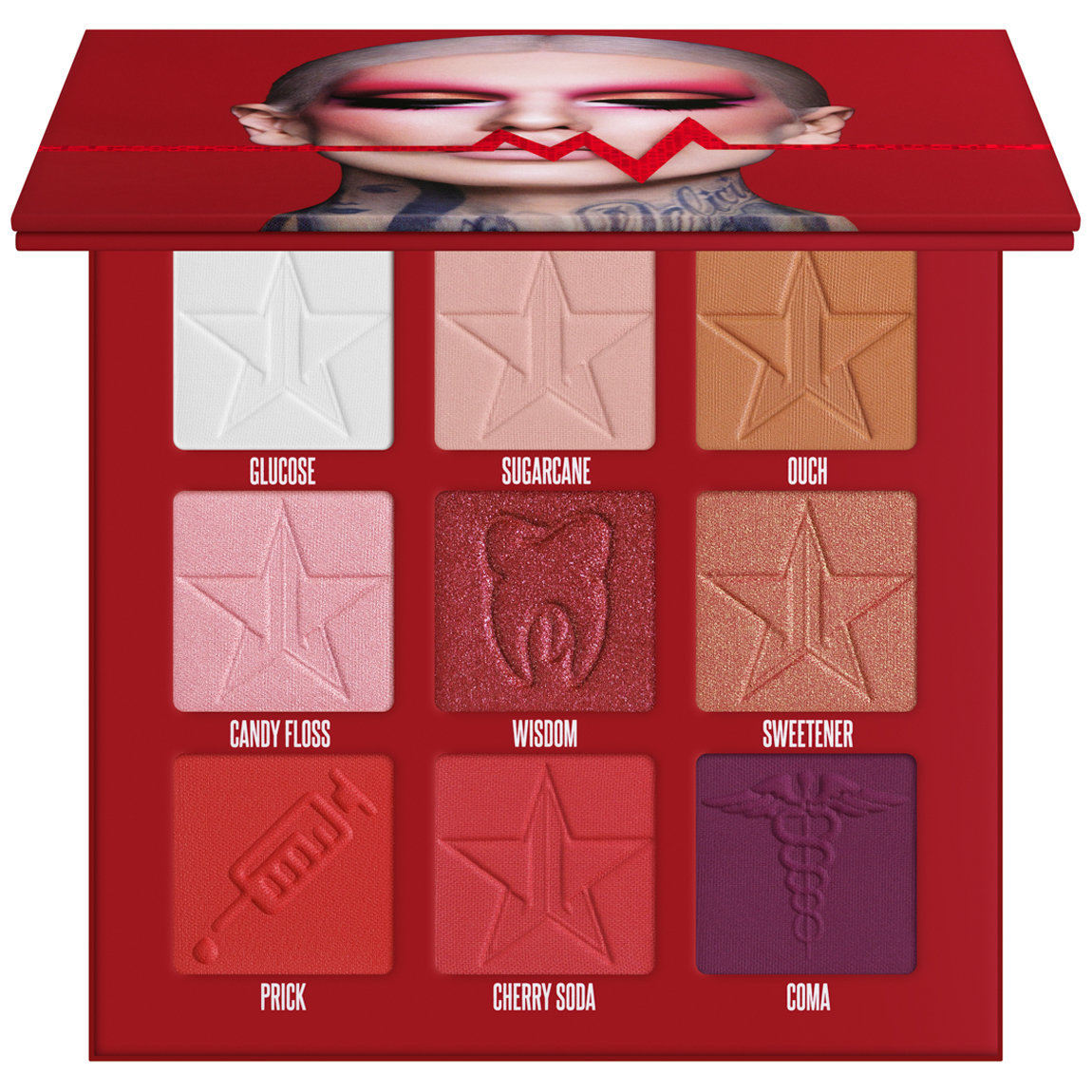 Jeffree Star Cosmetics Blood Sugar Mini Palette alternative view 1 - product swatch.