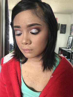(LATE POST) I had the honor the doing my best friend's siter's make-up the other weekend ago. Make-up deets in the other photo! #BeatBySunburntMulan #Sweet16
