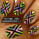 Watercolor Tribal Nail Art